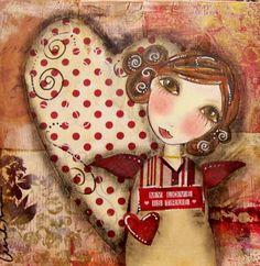 My LOVE is true MINI Angel ART Print by Southendgirlart on Etsy, $10.00