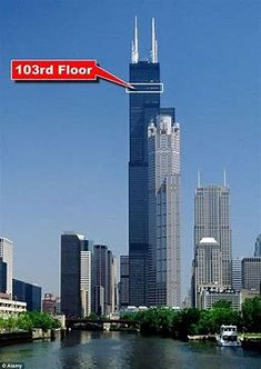 The owners of Sears Tower in Chicago have installed a glass box viewing platforms which stick out of the building 103 floors up. The glass . Chicago Usa, Chicago River, Chicago Illinois, Chicago Photos, Chicago City, Willis Tower, Places To Travel, Places To Go, Ancient Architecture