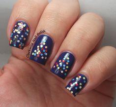 The Clockwise Nail Polish: Mollon Pro 204 Color Dots Review & Christmas Nail Art