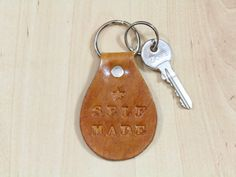 Self Made keyring by Tina's Leather Crafts on Etsy.com. Repin To Remember.