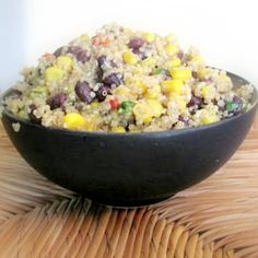 Lauren Conrad's Spicy Quinoa Salad--maybe make it, but leave out some of the 'spicy' stuff?