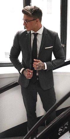 men suits fashion -- Click Visit link above to see more #mensuits2017 #MenSuits #mensuitsgrey