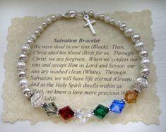 SALVATION Prayer Bracelet STERLING Silver by TheShiplettShop