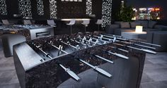 The creation of the foosball table was to bring together people and to enjoy fri. Table Football, Luxury Interior Design, Modern, People, Home Decor, Toronto, Competition, Soccer, Inspirational