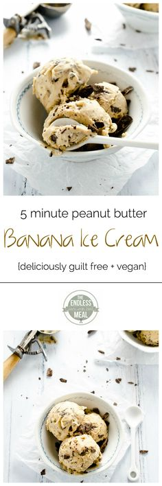 Peanut Butter Banana Ice Cream- This picture made me crave it so I'm pinning it.
