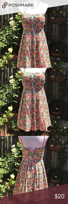 American Rag spaghetti strap sweetheart neckline. American Rag cotton summer dress. This is maj cutes adorbs! Size large. American Rag Dresses