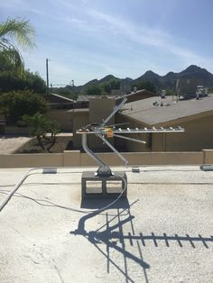 HDTV Antenna Installation In North Phoenix, AZ On A Flat Roof. So You Don