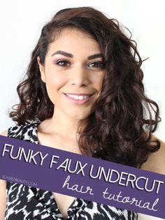 Funky Faux Undercut look via @slashedbeauty. Easy holiday hair styling tutorial. #HeartMyHair #ad