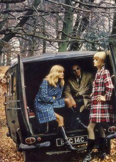 Helmut Newton fashion photography for British Vogue (1968)