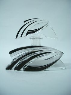 RARE Exceptional Glass Art Deco Perfume Bottle Karel Palda Czechoslovakia 30s | eBay