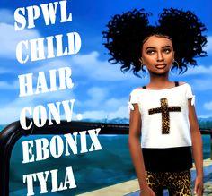 Lana CC Finds - SPWL CF Ebonix Baby Tyla hair