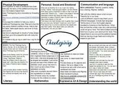 Thanksgiving EYFS medium term plan
