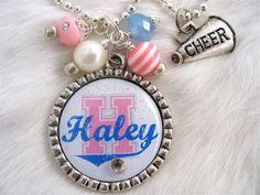 cheerleading jewelry | ... Necklace, CHEERLEADER Jewelry, Cheer Team, Cheer Squad, Team Spirit