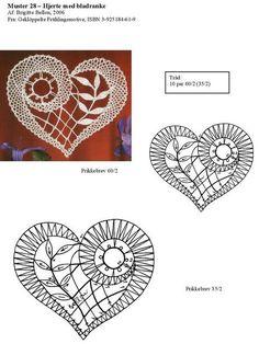 "Photo from album ""Неразобранное"" on Yandex. Crochet Motif Patterns, Bobbin Lace Patterns, Crochet Diagram, Heart Patterns, Filet Crochet, Irish Crochet, Crochet Edgings, Loom Patterns, Crochet Shawl"