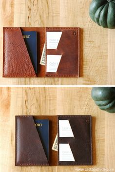 Monkey Face Color Leather Passport Holder Cover Case Travel One Pocket