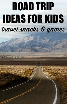 The best road trip ideas for kids! Great travel snack ideas plus tons of free travel printables. If you're heading on a road trip with toddlers or older kids, you'll want to download these free printables. And the snack ideas are awesome too.