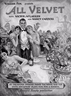 ad slick Victor McLaglen All Velvet 3239-21