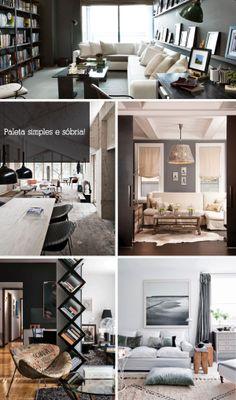 Decoração Masculina House Design, Composition, Home Decor, Man Decor, Arquitetura, Frames, Houses, Home, Decoration Home