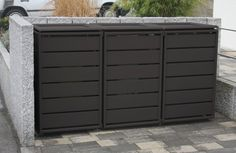 Mülltonnenbox 232005 Ecoplus, 120 Liter, Aluminium