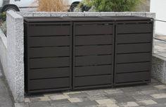 Mülltonnenbox 231404b Ecoplus, 120 Liter, Aluminium Dunkelgrau