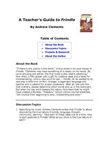 Frindle Teacher's Guide