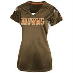 Cleveland Browns Women's Jersey Short Sleeve Shirt