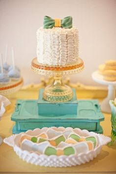 Vintage Bow Tie Themed Baby Shower by melody via baby shower ideas and shops #babyshowerideas4u