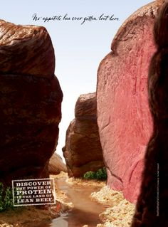 A really clever ad for beef.