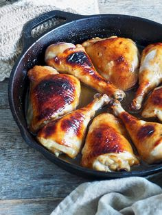 Ovnsbakt kyllinglår i honning- og soyasaus - Mat På Bordet Meat, Chicken, Omelet, Cubs