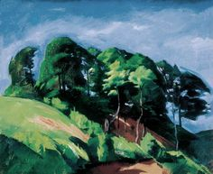 Line of Trees 1917 Oil on canvas, 53,5 x 66 cm Private collection