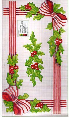 Cross Stitch Christmas Ornaments, Xmas Cross Stitch, Cross Stitch Borders, Christmas Embroidery, Cross Stitch Flowers, Christmas Cross, Cross Stitch Designs, Cross Stitching, Cross Stitch Embroidery