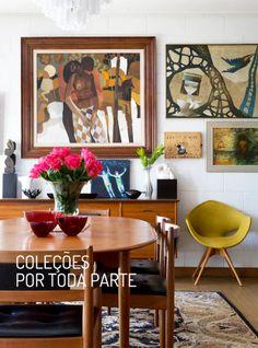 Uma decoração perfeita para quem gosta de colecionar. Veja mais: http://www.casadevalentina.com.br/blog/materia/cole-es-por-toda-parte.html  #detalhes #details #objects #objetos #decor #decoracao #interior #design #dining #casadevalentina