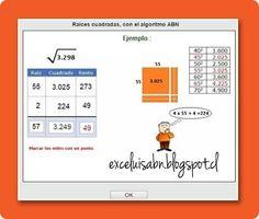 ExceLuisABN Matemática y Excel: Generador de ejercicios: Restas, con ...