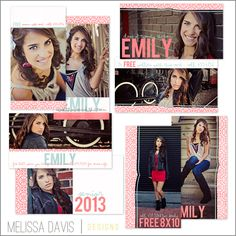 Senior rep card templates from Melissa Davis Designs