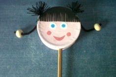 Manualidades para niños: Tambor con cara de niña
