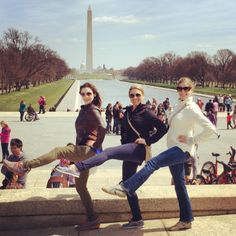 WHERE DO YOU BAR? Becca, Julia, and Alex V. take a walking tour with DC Insider Tours and show off their Bar Method moves at the same time. PS- Becca not only teaches for us, but leads tours too!