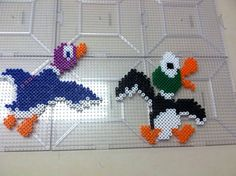 Duck Hunt ducks perler beads by Khoriana on deviantART
