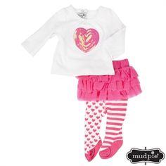 Mud Pie® Infant Girl Sequin Heart Skirt Set for Averie' s 3month shoot (February)