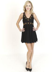 Black Dresses - Sequin And Bead Gathered Black Dress - http://www.blackdresses.co.uk  Skater Dress cute #casualoutfit #kelly751  #SkaterDress #Skater #Dress #topdress www.2dayslook.com