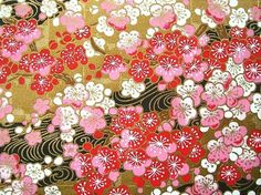 Beautiful Japanese Chiyogami Paper - Plum Blossom by kawaii_fabric_and_paper, via Flickr
