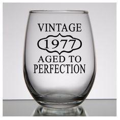cumpleaños número 40 de regalo para las mujeres, Vintage 1977, 40 cumpleaños, cumpleaños rocas vidrio, 40 cumpleaños regalo hombre, regalo de cumpleaños personalizado