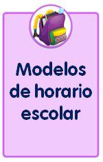 Modelos de horario escolar para descargar e imprimir