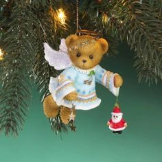 """Cherished Teddies """"""""Angel of Christmas Cheer"""""""" Hanging Ornament * You can find out more details at the link of the image."""