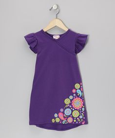Take a look at this Purple Flower Nannette Dress - Infant, Toddler & Girls by Hippo Hula on #zulily today!