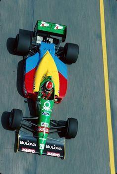 "John Paul ""Johnny"" Herbert (GBR) (Benetton Formula Ltd.), Benetton B188 - Ford Cosworth DFR 3.5 V8 (finished 4th) 1989 Brazilian Grand Prix, Autódromo Internacional Nelson Piquet (Jacarepaguá)"