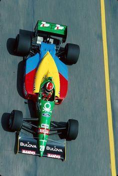 "John Paul ""Johnny"" Herbert (GBR) (Benetton Formula Ltd.), Benetton B188 - Ford Cosworth DFR 3.5 V8 (finished 4th) 1989 Brazilian Grand Prix, Autódromo Internacional Nelson Piquet (Jacarepaguá)"