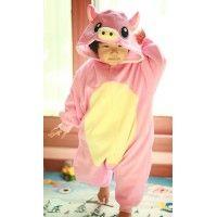 Pink Pig Baby Animal Onesie