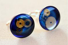 Deep blue cufflinks