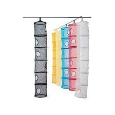 Merveilleux Good 6 Tier Hanging Mesh Storage Closet Organizer Kids Room Unit BLACK