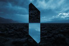 Multimedia artist Reynald Drouhin's revises crystal clear landscapes in his series 'Landscape Monolith'